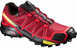Trailová obuv SALOMON SPEEDCROSS 4  GTX brique-x/radiant red