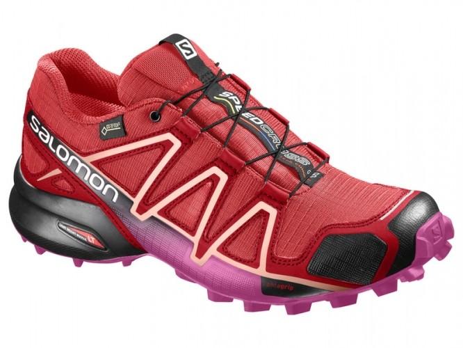 8948b69248e0 Trailová obuv SALOMON SPEEDCROSS 4 GTX W Poppy Red Barbados Cherry Black