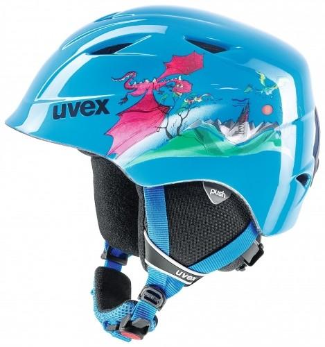 f7e06430a Detská lyžiarská prilba UVEX AIRWING modrá